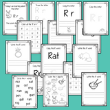 Alphabet Book Letter R    Help your children practice recognizing and using R, with 15 pages of activities.     The 15 pages contain, copying, tracing, writing, coloring, reading and spotting the letter and sound R