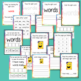 Sight Word 'Words' 15 Page Workbook