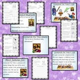 Scientists and Inventors   -  Leonardo Da Vinci PowerPoint and Worksheets