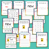 Sight Word 'New' 15 Page Workbook Help your children practice their sight words with 15 pages of activities to spell and use the sight word 'New' in sentences.     The 15 pages contain, handwriting practice, tracing and spelling the word and sentence reading and construction.