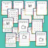 Sight Word 'Let' 15 Page Workbook Help your children practice their sight words with 15 pages of activities to spell and use the sight word 'You' in sentences.     The 15 pages contain, handwriting practice, tracing and spelling the word and sentence reading and construction.