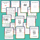 Sight Word 'Did' 15 Page Workbook Help your children practice their sight words with 15 pages of activities to spell and use the sight word 'Did' in sentences.     The 15 pages contain, handwriting practice, tracing and spelling the word and sentence reading and construction.