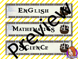Pirate Themed Classroom Banners This download includes 3 fun pirate themed subject banners: English, Science and Mathematics (includes Math, Maths and Mathematics). These are great to complete your pirate themed classroom.  This download includes: - 5 Banners - Full instructions #classroomthemes #teachingideas #pirateclassroom