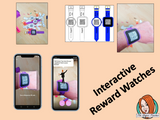 Back to School Reward watches (Brag Tags) download the free Metaverse AR (augmented reality) app Scan the code and a fun character will appear in your classroom to congratulate the kids! Each tag has AR reward that the children collect also the option to take a reward selfie.  I made new friends Welcome back to school I learnt all the rules I worked hard on my first day I told my teacher my news I started with a good attitude #bragtags #rewardtag #awardtags #backtoschool