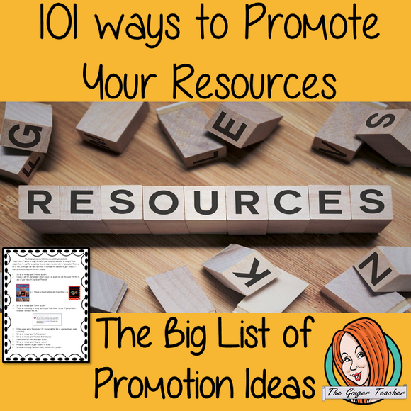 101 Ways to Promote your Products