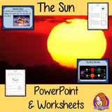 The Sun of our Solar System PowerPoint and Worksheets This download teaches children about the Sun in one complete lesson. There is a detailed 24 slide PowerPoint on the size of the Sun, the life of the Sun, different types of stars and understanding an eclipse. There are also differentiated, 8 page, worksheets to allow students to demonstrate their understanding. This pack is great for teaching kids about the Sun of our solar system. #solarsystem #space #science #sciencelesson #thesun