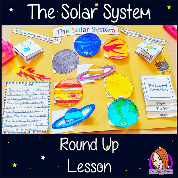 The solar system Complete science Lesson A lesson for children about the solar system. Learn about the size of the solar system, the planets, the sun, life on Earth, the planet Mars and exploring outer space. There are two detailed PowerPoints to teach understanding. Kids create an information board using fun foldables and information sheets. Everything needed for this classroom lesson is included #lessonplanning #space #solarsystem #teaching #resources #sciencelessons #scienceplanning
