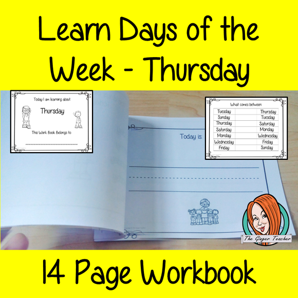 Days of the Week Pre-School Activities - Thursday