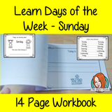Days of the Week Pre-School Activities - Sunday