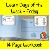 Days of the Week Pre-School Activities - Friday