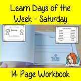 Days of the Week Pre-School Activities - Saturday