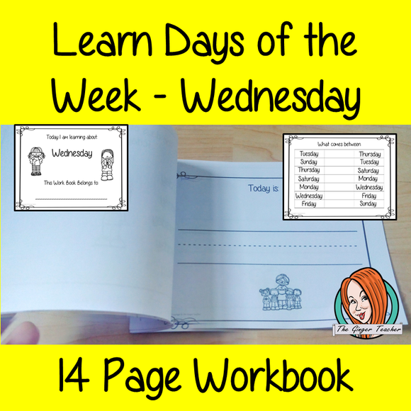 Days of the Week Pre-School Activities - Wednesday