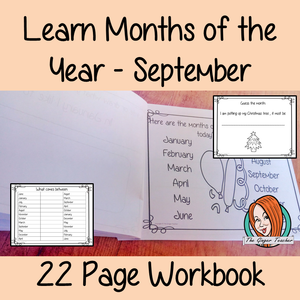 Months of the Year Pre-School Activities - September