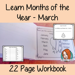 Months of the Year Pre-School Activities - March