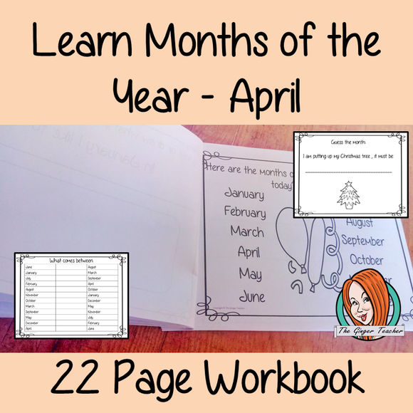 Months of the Year Pre-School Activities - April
