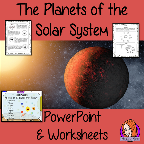 The planets of the Solar System PowerPoint and Worksheets This download teaches children about the planets of the solar system in one complete lesson. There is a detailed 18 slide PowerPoint on the different planets in the solar system. There are also differentiated, 6 page, worksheets to allow students to demonstrate their understanding. This pack is great for teaching kids about the planets of our solar system. #solarsystem #space #science #sciencelesson #planets