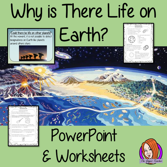 Why is There Life on Earth? PowerPoint and Worksheets Lesson teach children about the start of life on Earth in one complete lesson. Detailed 29 slide PowerPoint on life on Earth, the possibility of life on other planets and discusses if we could live on another planet. There are also differentiated, 7 page, worksheets to allow students to demonstrate their understanding. This pack is great for teaching kids about life on Earth.. #solarsystem #space #science #sciencelesson