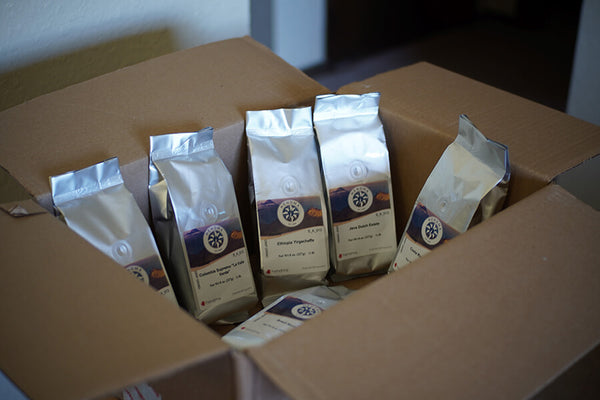 Choose your coffee subscription to either weekly or monthly.