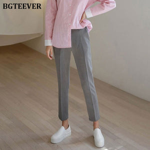 Office Ladies Casual Women Pencil Pant High Waist Elegant Work Trousers Women Pants Female Suit Pant pantalon femme 2019 Autumn