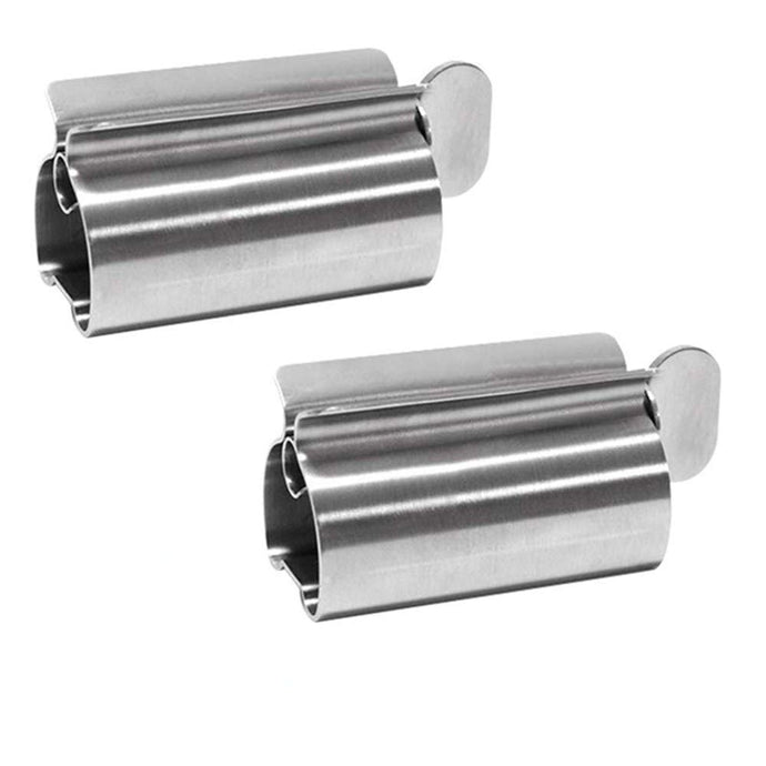FiveEyes Toothpaste Squeezer, Metal Toothpaste Tube Squeezer Rollers, Toothpaste Seat Holder Stand, 2 Pack