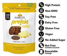 Amrita Foods - Top 9 Allergy Free, Pineapple Chia High Protein Bites, Non-GMO