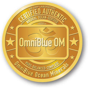 OmniBlue Ocean Minerals | 2 oz. | 100% Certified, Pure and Naturally Harvested Ocean Electrolytes as Naturally Occurring Macro & Trace Minerals | No Additives or Alterations 2 Fl Oz (Pack of 1)