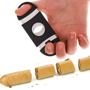 Black Plastic Guillotine Cigar Cutter (3 Pack)