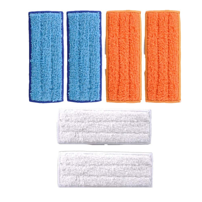 LICORNE Mop Heads Washable Mopping Pads for IRobot Braava Jet 240 241 Mop Pads, Reusable Wet Damp Dry Pads Sweeping 6 Pcs