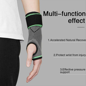 QRANSS Wrist Brace for Carpal Tunnel(2 PCS) - Wrist Sleeve with Adjustable Strap support for Injuries, Tendonitis, Arthritis, bowling, Weight Lifting for Men and Women Green XL