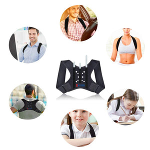 Posture Corrector for Women and Men/Breathable-Adjustable Concealed Back Straightener/Lumbar Support,Used to Relieve Upper Back Pain (medium) medium