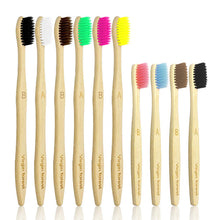 Kids Bamboo Toothbrush, Eco Friendly Toothbrushes, BPA Free Soft Bristle for Assorted Colors Adults and Children (6+4 Pack) Adults 6+ Children 4