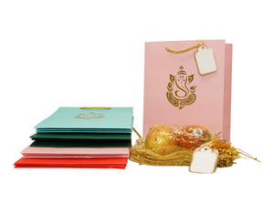 Indian Ganesh Gift Bags (8 Medium Ganesh) 8 Medium ganesh
