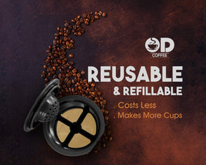 Reusable K Cups For Keurig 2.0 & 1.0 Brewers Universal Fit For Easy To Use Refillable Single Cup Coffee Filters, Fits Most Keurig K-Cup Brewers, Reusable k cup Eco Friendly Golden Mesh Filter (6-Pack)