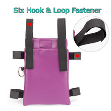 Crutch Bag Universal Crutches Accessory Crutch Carryon Pouch (Purple, Pu Leather) Purple