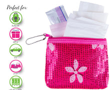 Menstruation Kit - First Period Kit To-go! (Period Starter Kit with Organic & Biodegradable Pads) (Pink) Pink