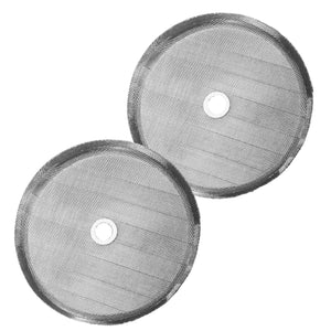 French Press Replacement Filter Screen (2pack) - Includes Metal Center Ring - Universal 8-Cup Stainless Steel Reusable Filter