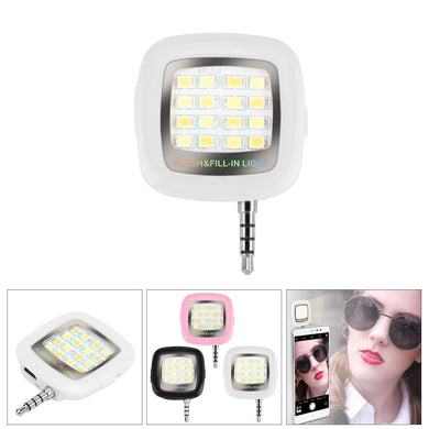16-LED Smartphone Selfie Light with 3.5mm Plug