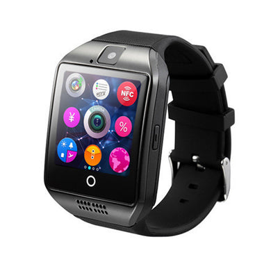 Q18 Bluetooth Smartwatch with Camera TF/SIM Card Slot GSM Anti-lost Watch (Black)
