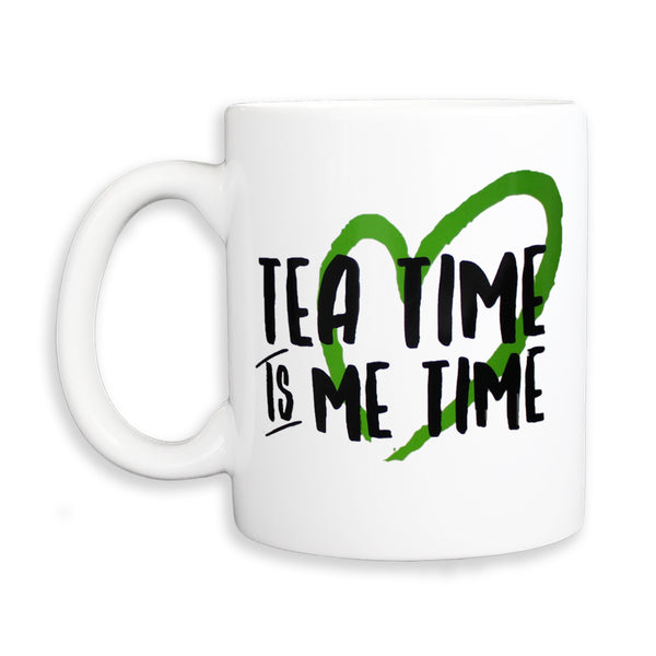 HEART TEA TIME WHITE MUG