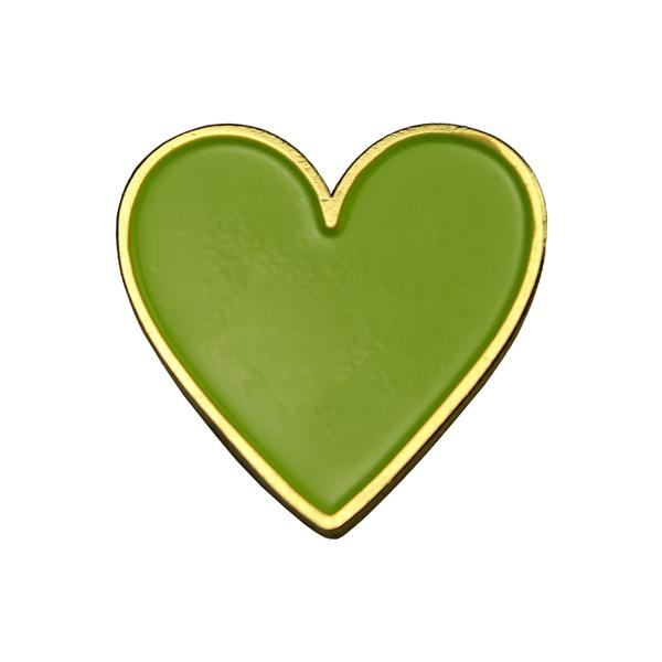 GREEN HEART LOGO PIN BADGE