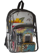 Load image into Gallery viewer, Clear Ballistic Backpack for School