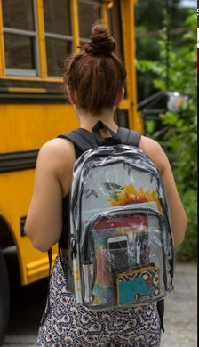 Clear Ballistic Backpack for School