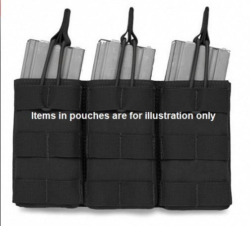 Triple Open Rifle Mag Pouch