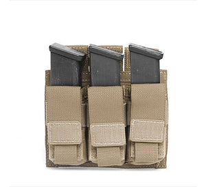 Direct Action Triple 9mm Pistol Mag Pouch Black