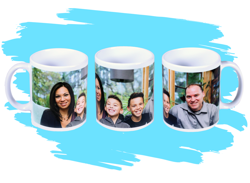 Single wraparound photo mug