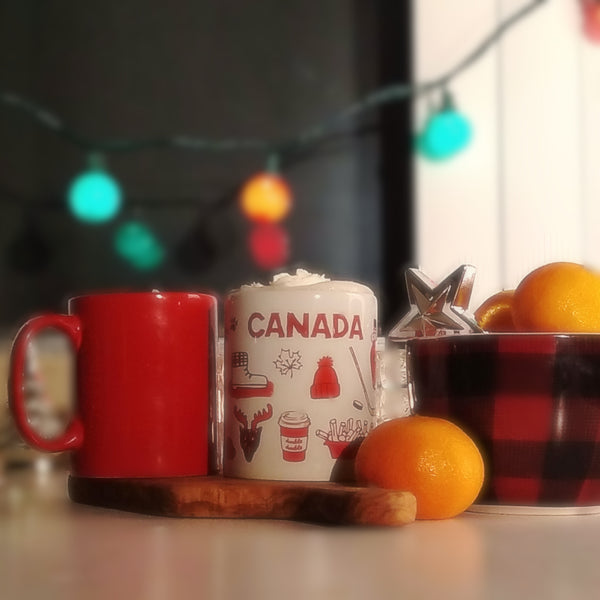 Hot Chocolate Mugs Canadian Themed
