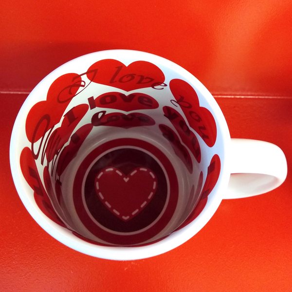 Love Mug With Text on the Inside