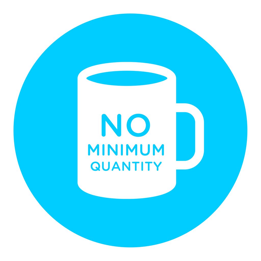 no minimum custom mugs
