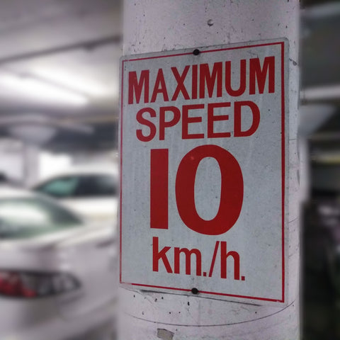 Maximum Speed Sign For Residential Underground Garage