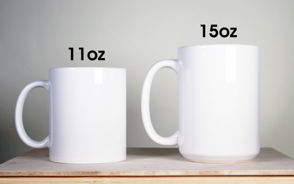 Different Custom Blank Tea Mug Sizes